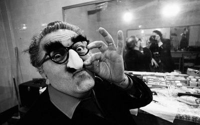 ON SET WITH FELLINI. Photographs by Tiziana Callari from the film Intervista.