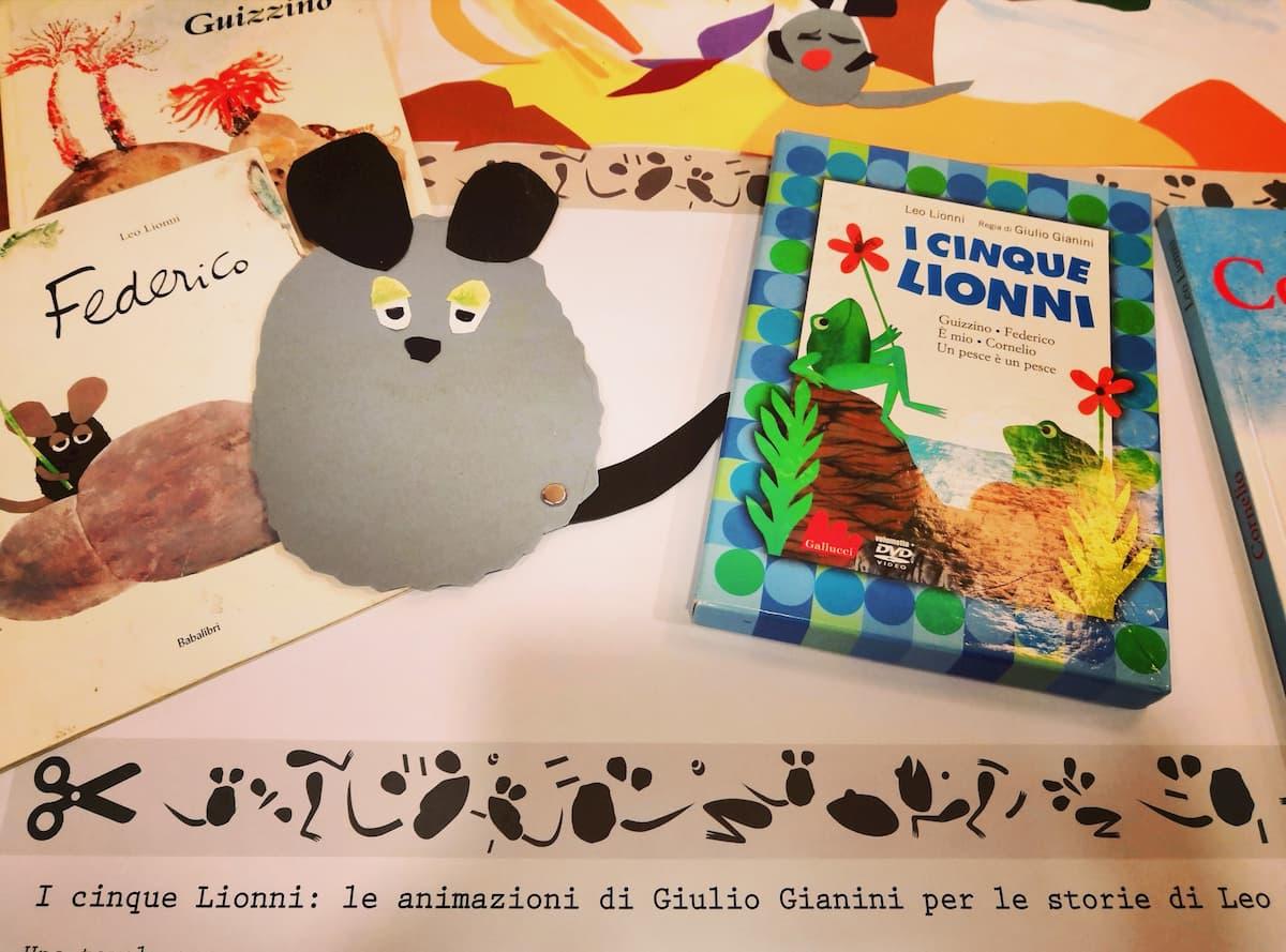 Un laboratorio per scoprire le storie e i personaggi di Leo Lionni e animati da Giulio Gianini.
